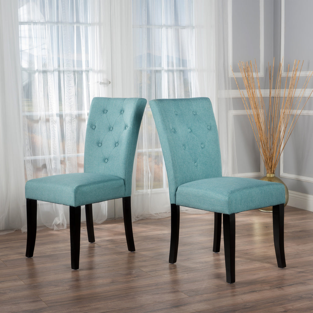 Ostrom Blue Fabric Dining Chair (Set of 2)