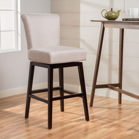 Tristan 28-Inch Fabric Swivel High Back Counter Stool
