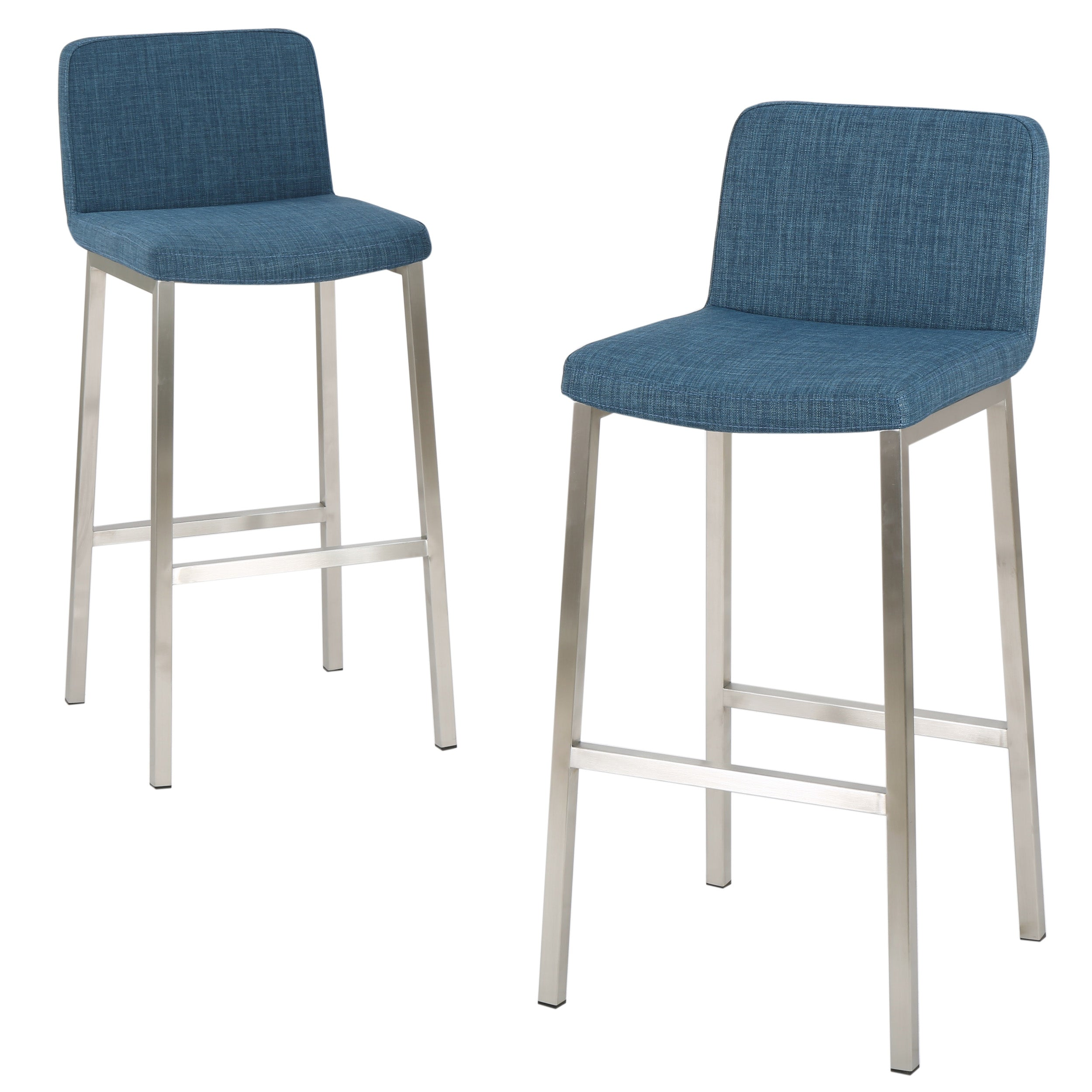 31 Inch Fantasia Fabric Barstool Set of 2 Default Title
