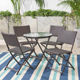 Jason 5pcs Outdoor Wicker Bistro Set