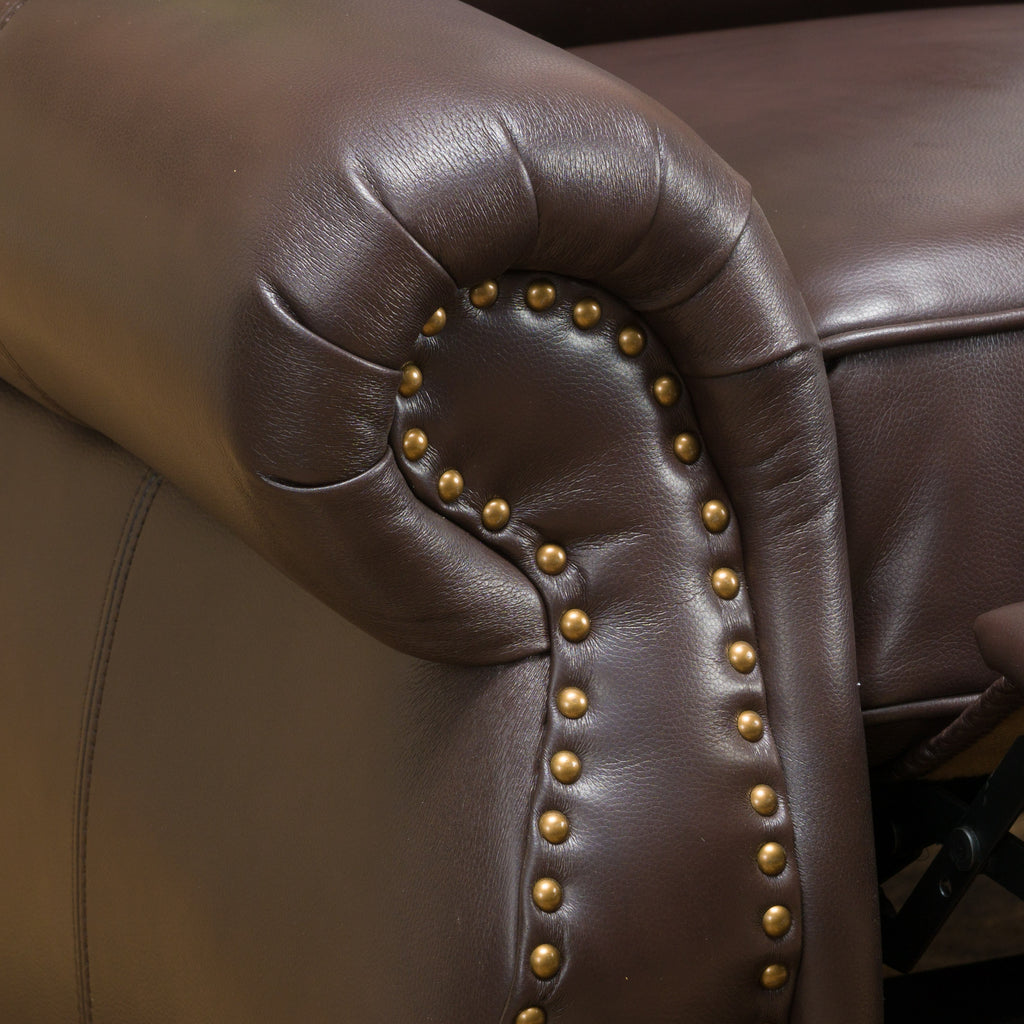 Jasmine Brown Leather Cigar Recliner
