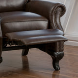 Curtis Leather Recliner Club Chair