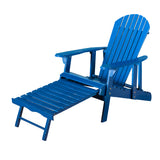 Katherine Outdoor Reclining Wood Adirondack Chair with Footrestst
