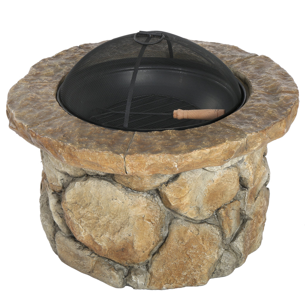 Taylor Outdoor Natural Stone Fire Pit