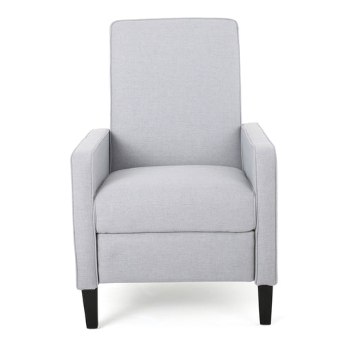 Drake Light Grey Fabric Recliner Club Chair