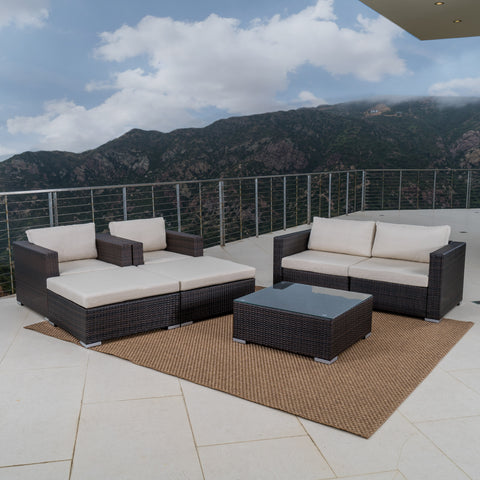 Francisco Outdoor Wicker Sectional w/ Cushions