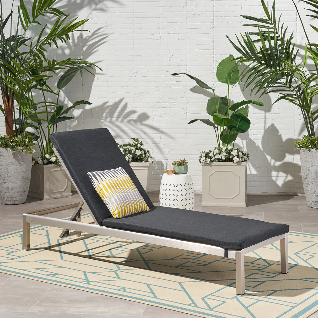 Cherie Outdoor Chaise Lounge with Cushion