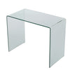 Classon Modern Rectangular Tempered Glass Console Table