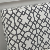 Charlotte Grey Geometric Patterned Fabric Settee