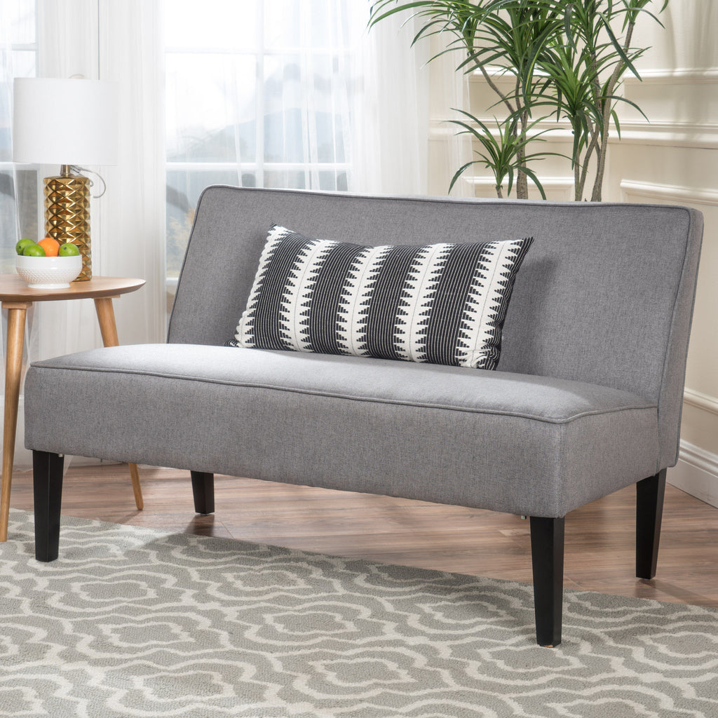 Room Store Chandler: Chandler Grey Fabric Love Seat