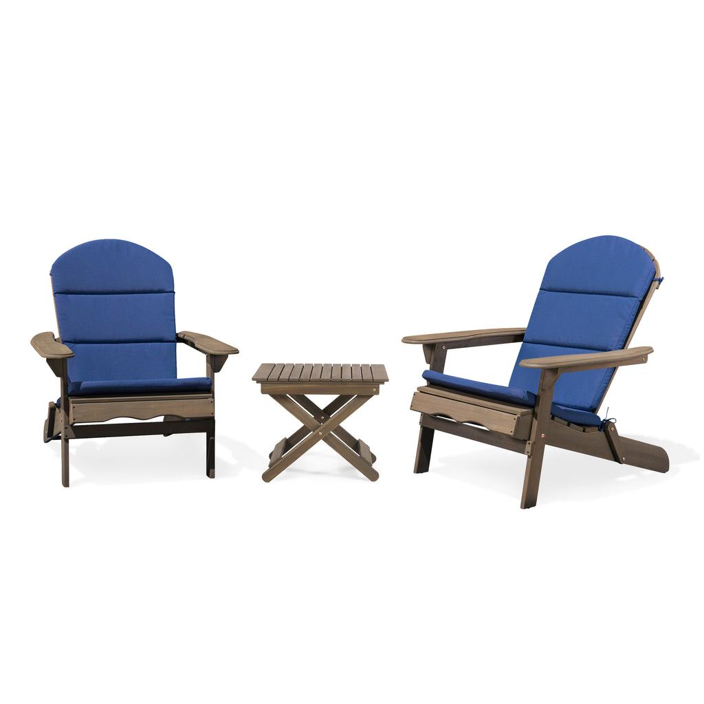 Reed Outdoor 2 Seater Acacia Wood Chat Set with Water Resistant Cushions