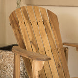 Milan Brown Outdoor Folding Wood Adirondack Chair Set of 2