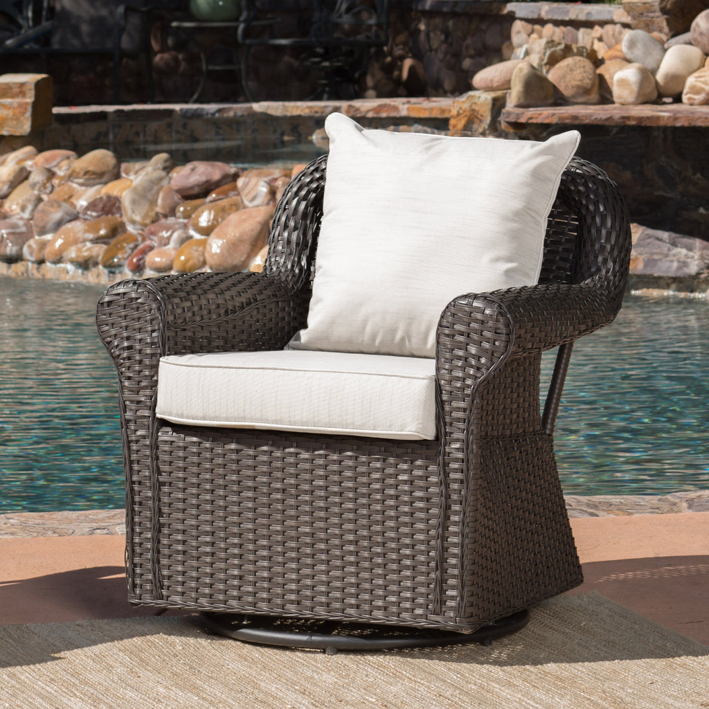 admiral outdoor wicker swivel rocking chair w water resistant