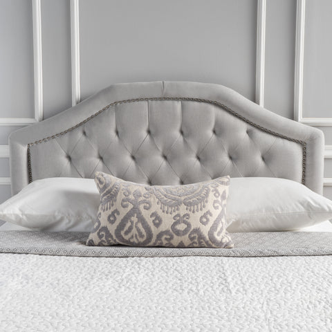 Hecha Light Grey Fabric Queen/Full Headboard
