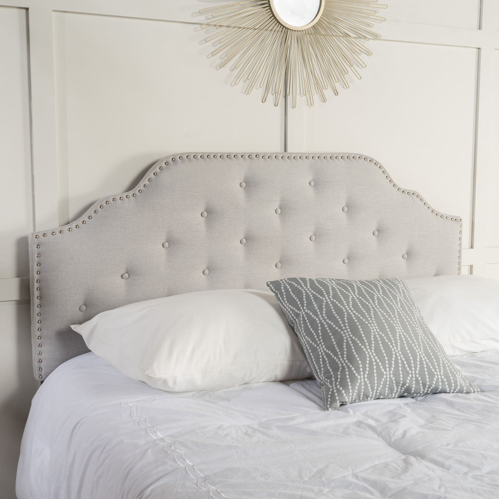 Austell Light Grey Fabric Queen/Full Headboard