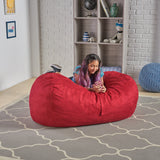 Cassell Red Fabric 4-foot Lounge Beanbag Chair