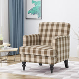 Eve Tufted Fabric Club Chair