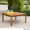 Capri Outdoor Teak Fnished Acacia Wood Coffee Table