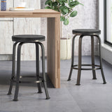 Arlington Modern Industrial Swiveling Counter Stool (Set of 2)