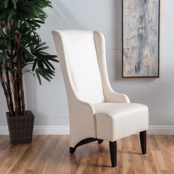 Sheldon Traditional Design High Back Fabric Dining Chair