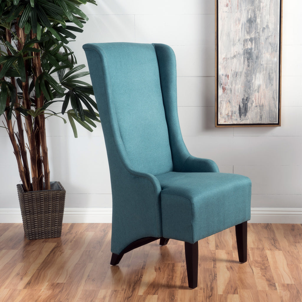 Sheldon Traditional Design High Back Fabric Dining Chair ...