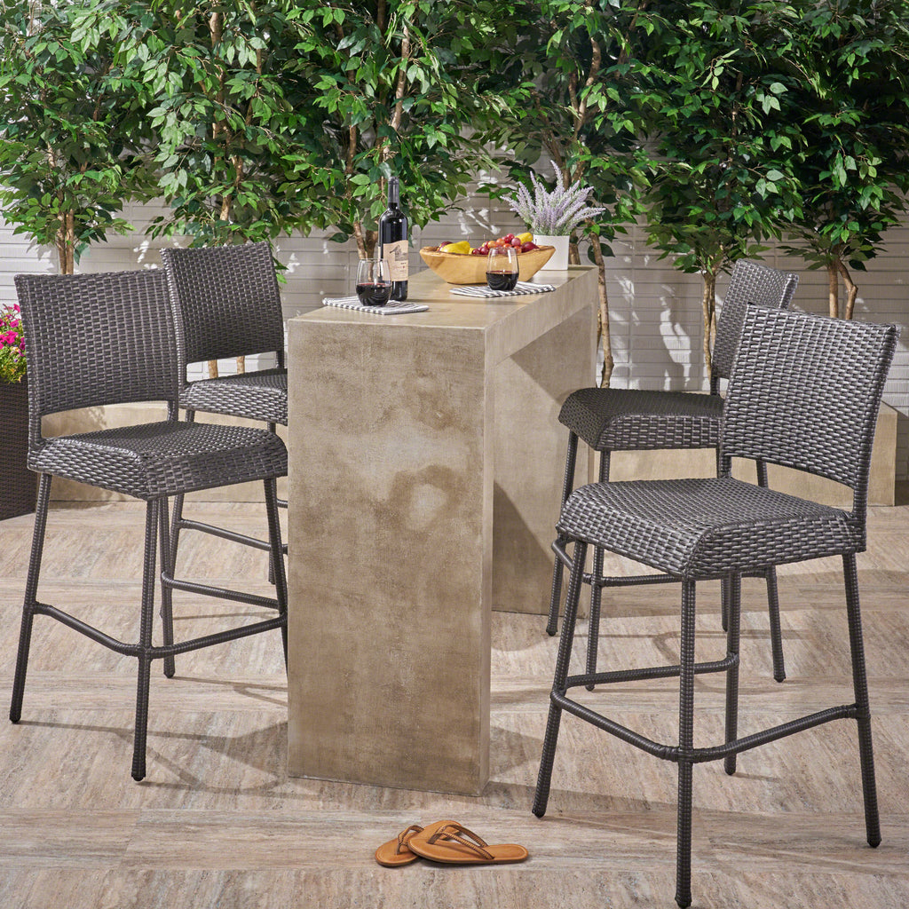 Sandy Point Bar Stools Pub Height 29 5 Quot Seats Gray