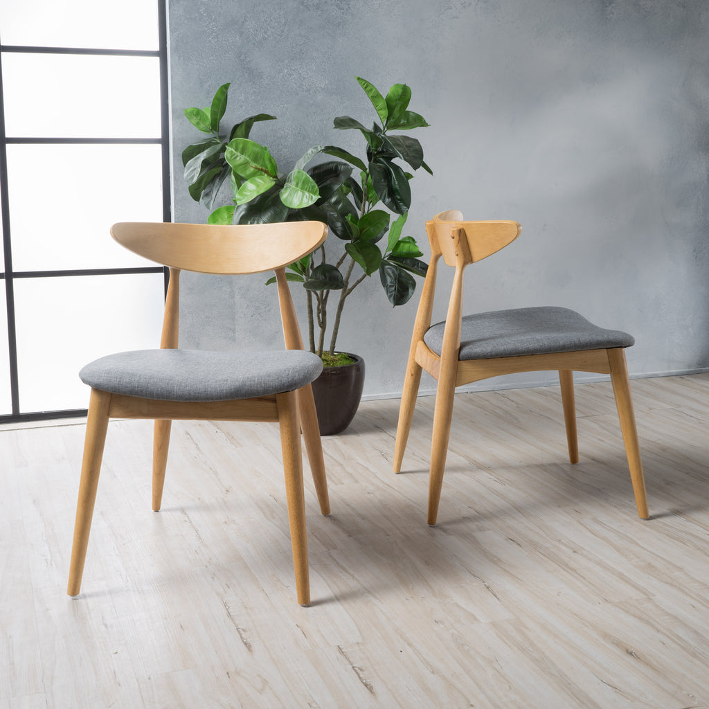 Issaic Mid Century Modern Design Wood Dining Chairs Set