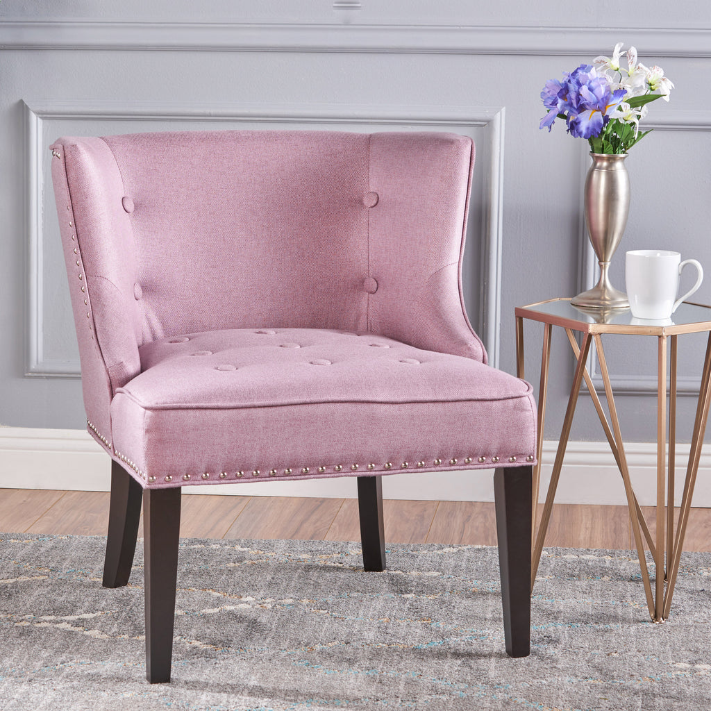Aria Fabric Wingback Accent Chair