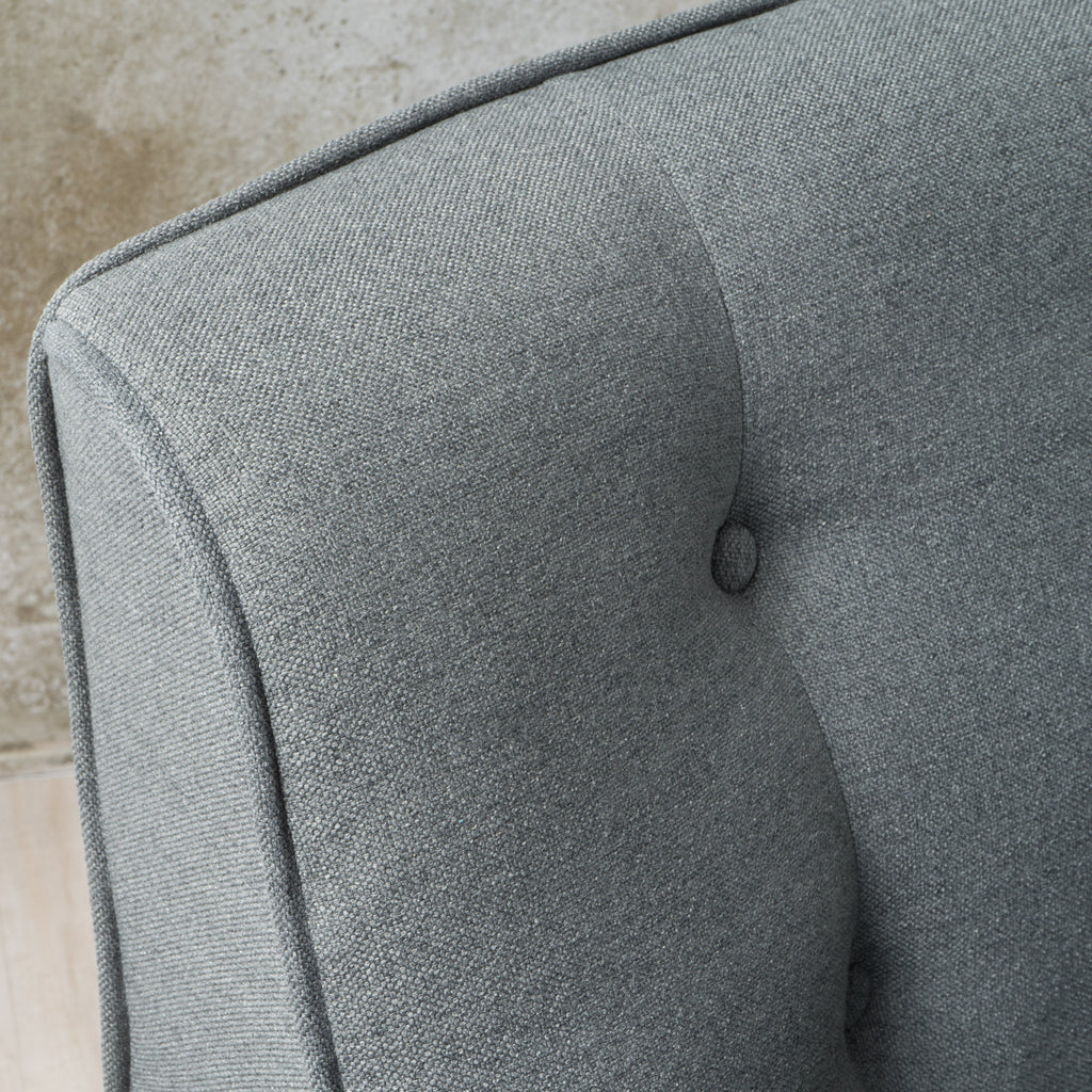 Fontinella Mid Century Tufted Back Fabric Accent Chair