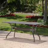 Augusta Outdoor Patina Copper Cast Aluminum Dining Table