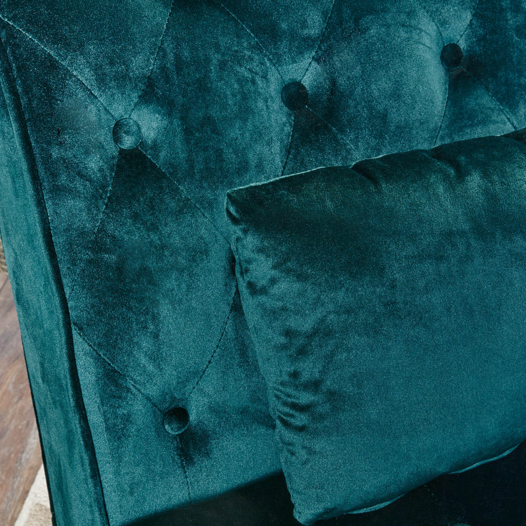 Rafaela Tufted New Velvet Chaise Lounge Gdf Studio