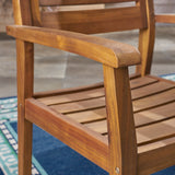 Addison Outdoor 3 Piece Acacia Wood Bistro Set