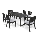 Kemp Outdoor 6-Seater Acacia Wood Dining Set
