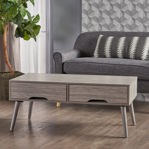 Naomi Mid Century Modern Finished Fiberboard Coffee Table