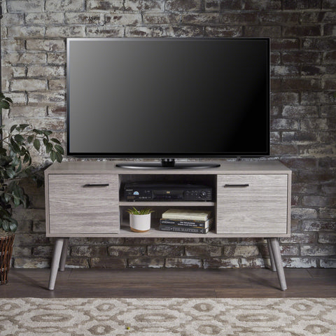 Amal Mid Century Modern Finished Fiberboard Entertainment Center