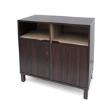 Provence 2-Shelf Walnut Finished Faux Wood Cabinet with Oak Interior