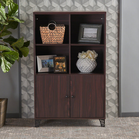Justina Mid Century Modern Finished Fiberboard Cabinet