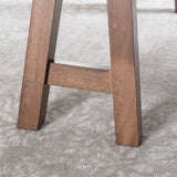 Sabrina Farmhouse Faux Wood Dining Table with A-Frame Legs