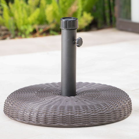 Belmont 45lbs Brown Resin and Iron Round Umbrella Base