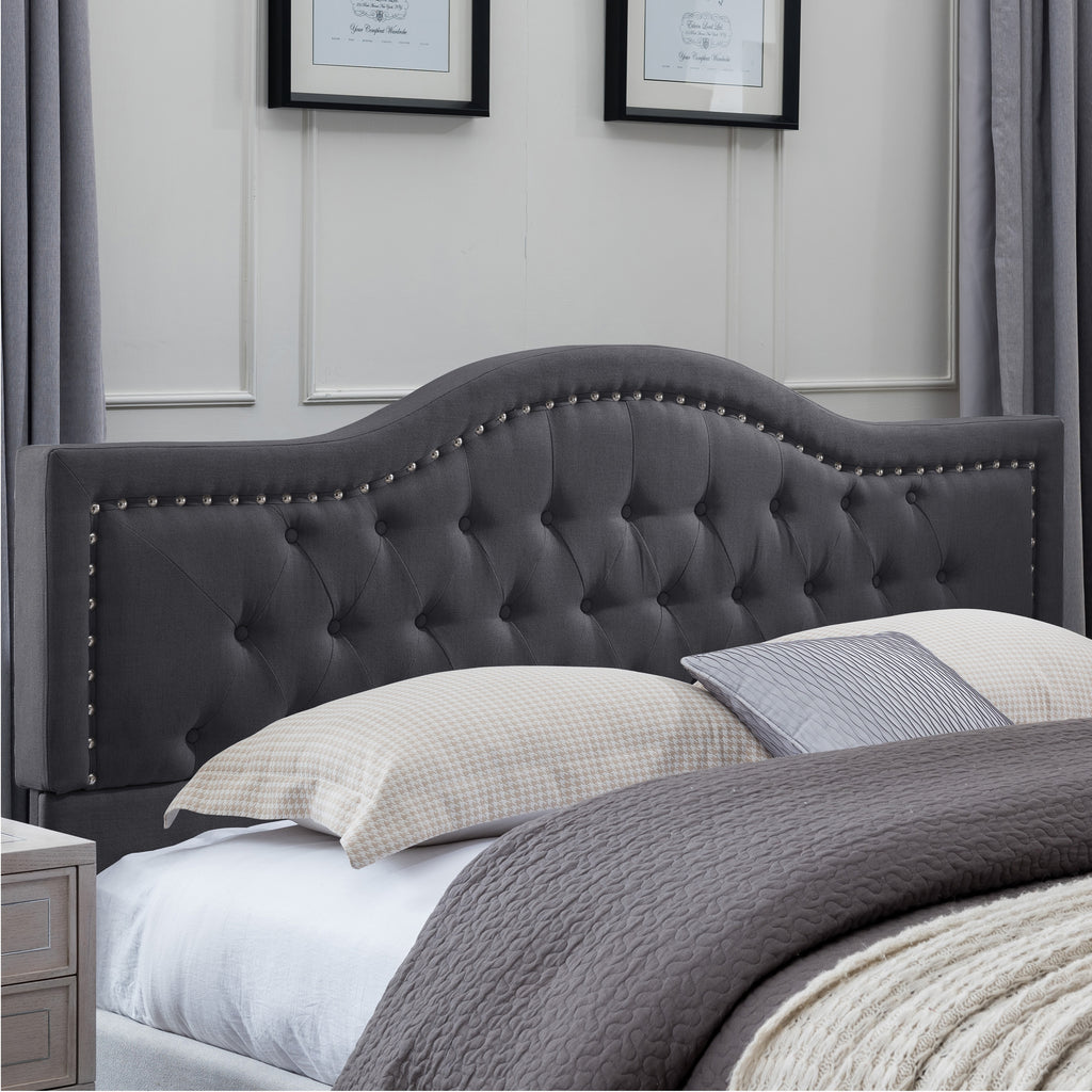 Jacko Fully-Upholstered Traditional Bed Frame