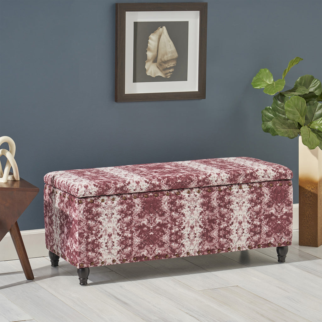 Bancroft Rectangle Velvet Storage Ottoman Bench