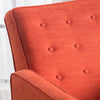 Macedonia Mid Century Modern Tufted Back Fabric Recliner