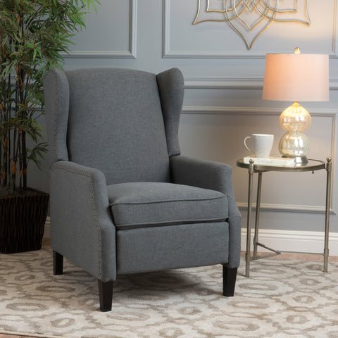 Weyland Wingback Traditional Fabric Recliner