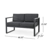 Nealie Outdoor 9 Seater Aluminum Sectional Sofa Set with Mesh Chaise Lounges