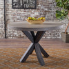 Caprice Modern Lightweight Concrete Circular Dining Table with Cross Base