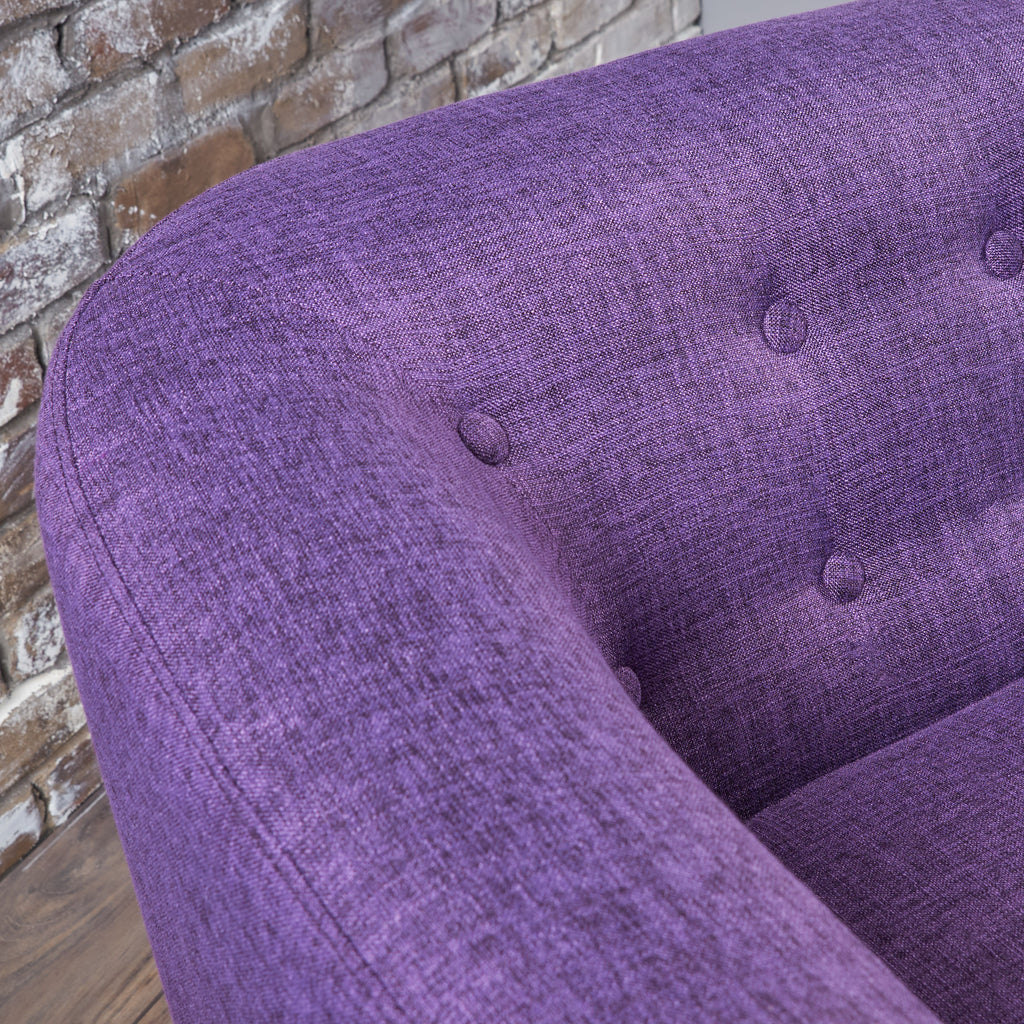 Brony Button Back Mid Century Fabric Modern Loveseat