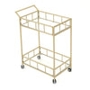 Louise Indoor Modern Iron and Glass Bar Cart