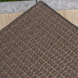 Venice Outdoor Light Brown Wicker Side Table
