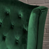 Leah French Style Tufted High Winged Back New Velvet Loveseat