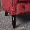 Melaina Tufted Scroll Arm New Velvet Loveseat